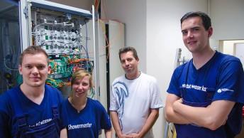 IT-Systemelektroniker im Serverraum
