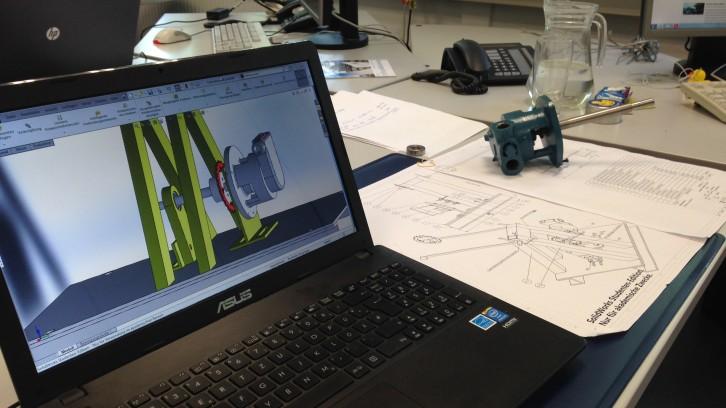 Konstruktionszeichnung Pumpenfahrrad