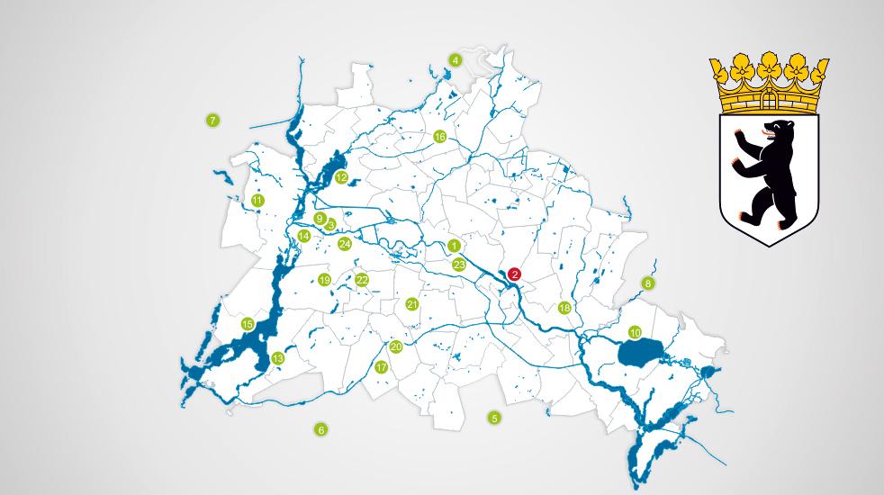 Berliner Wasserbetriebe Standorte